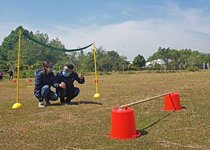 New team building game in Cu Chi